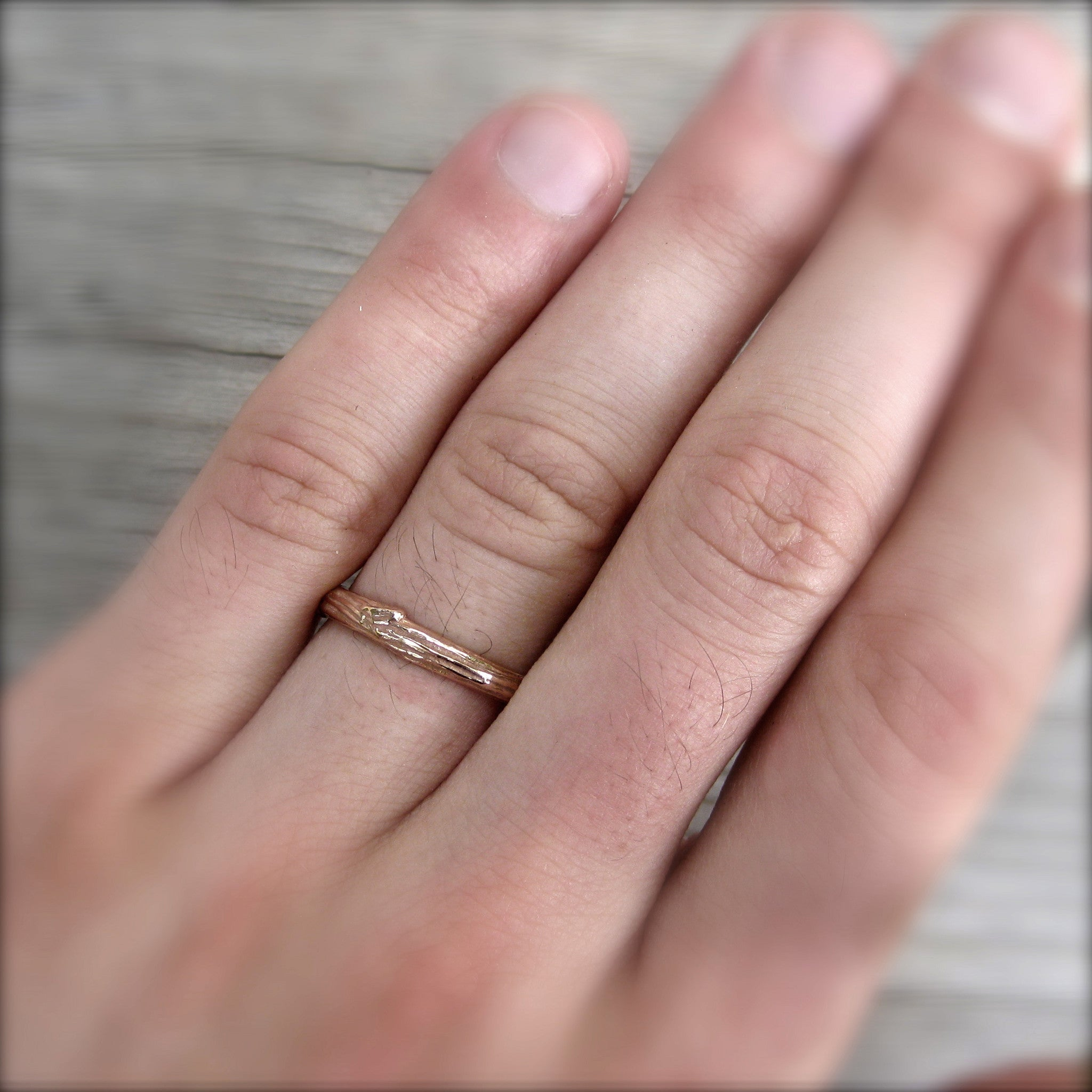 Twig & Branch Wedding Band Set | Kristin Coffin Jewelry