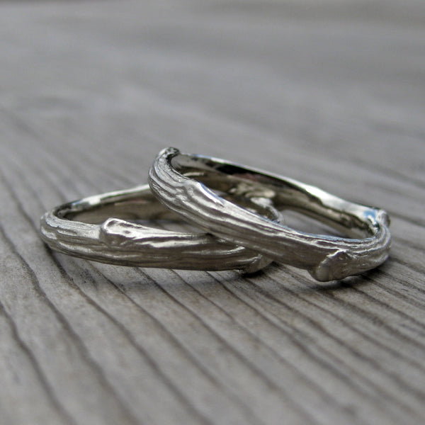 Branch Wedding Band Set Kristin Coffin Jewelry