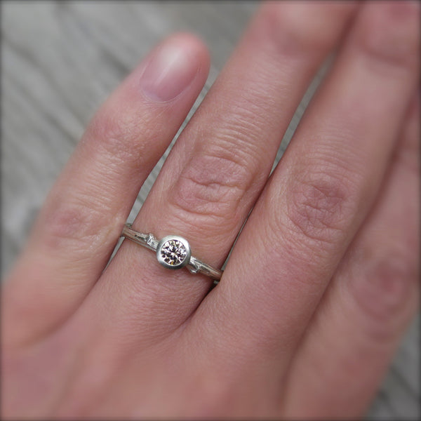 Chocolate Diamond Twig Engagement Ring (.25ct)