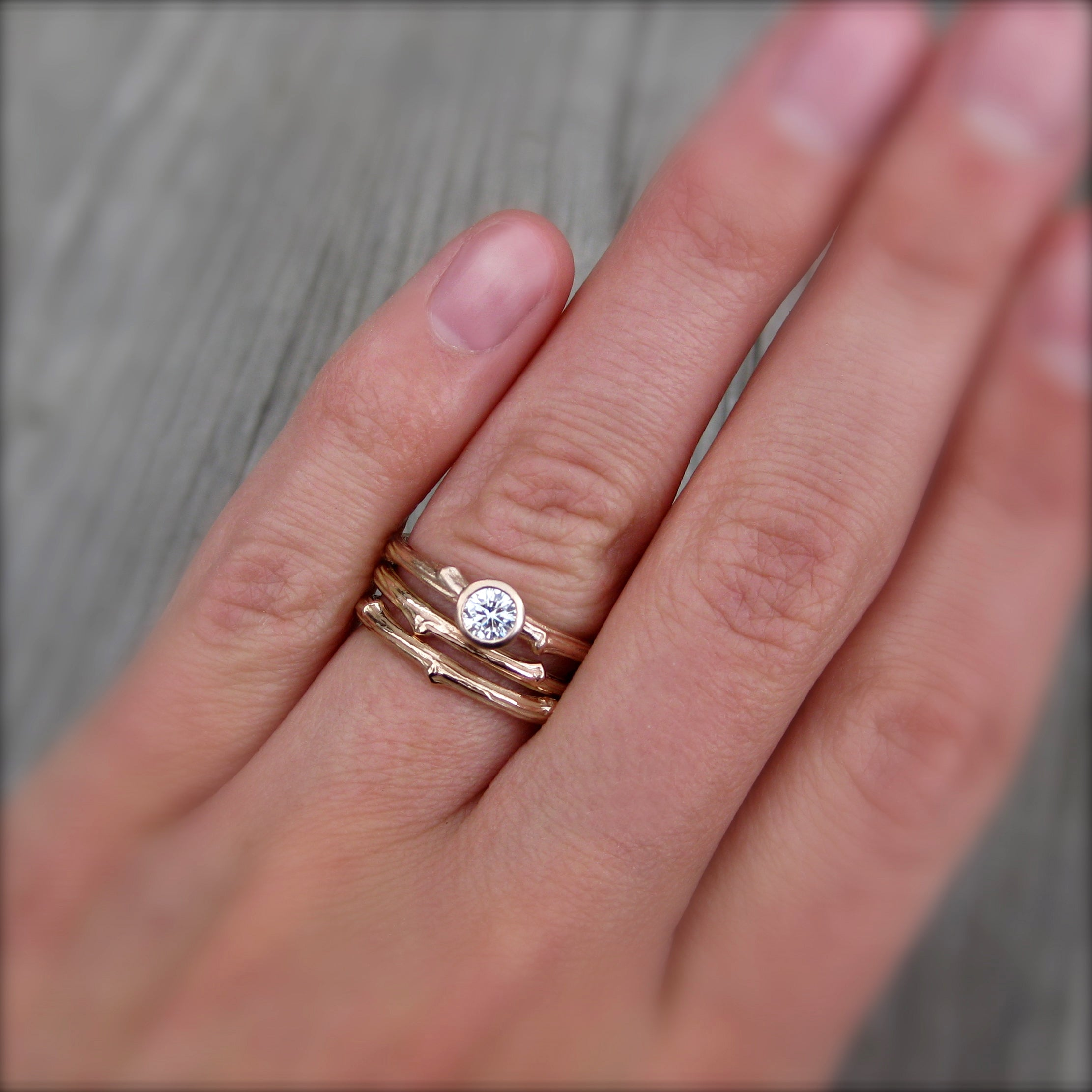 Twig Wedding Band | Branch Band | Kristin Coffin Jewelry