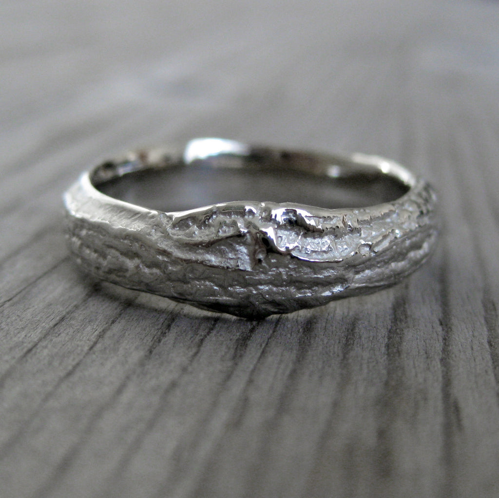 Diamond Twig & Branch Wedding Band Set | Kristin Coffin Jewelry