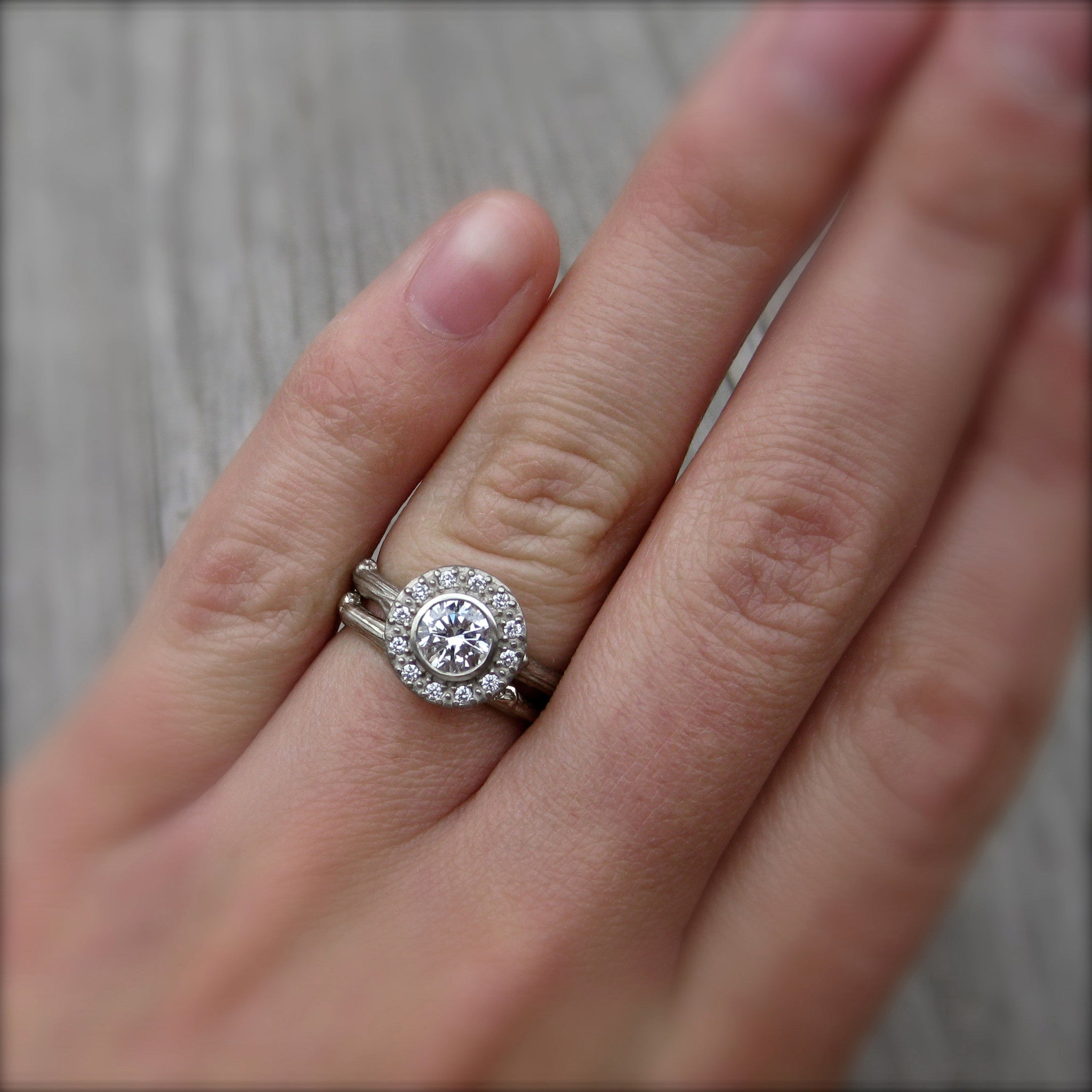 wedding band for a thin halo engagement ring halo wedding ring Other than that I am extremely open minded