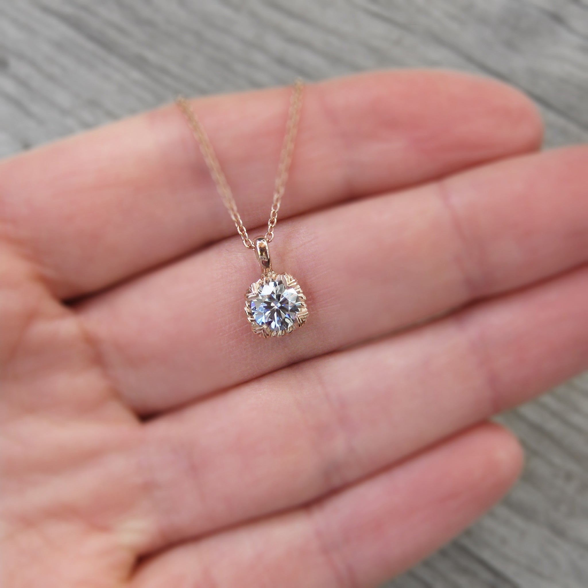 forever necklace product classic com newegg moissanite pendant round