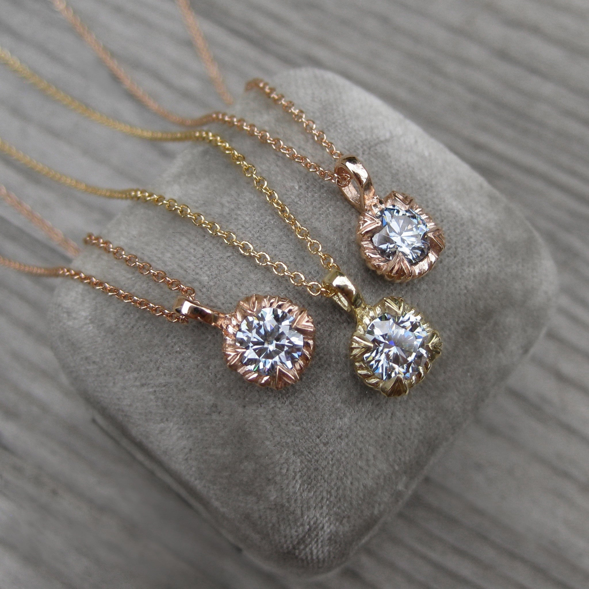 kristina moissanite collections necklace henning luna