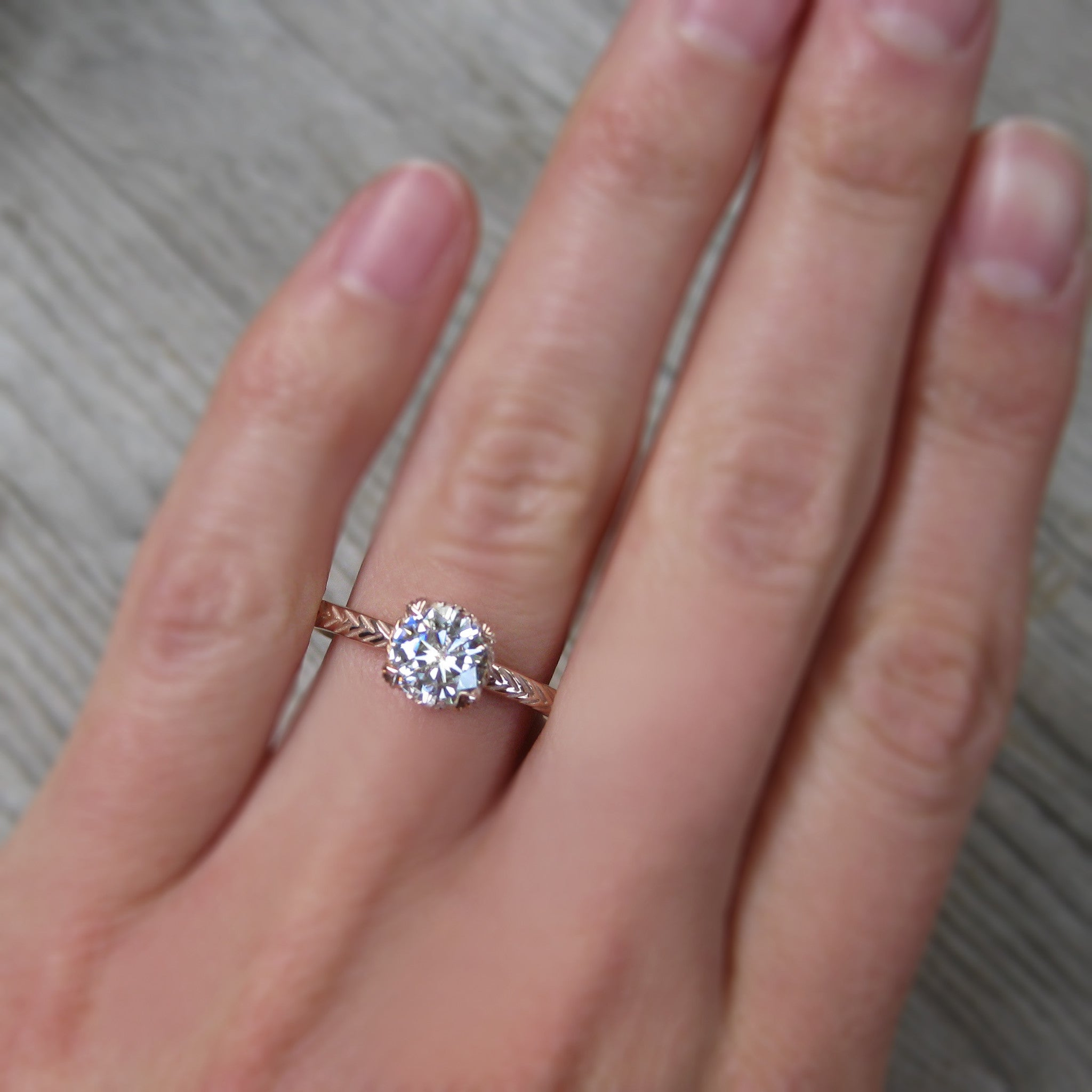 Round Forever One Hearts and Arrows or Supernova Moissanite Feather ...