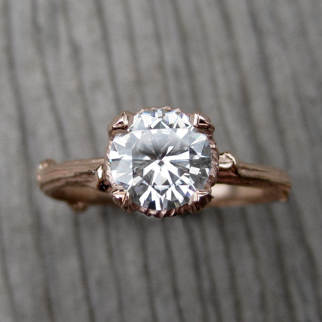 Forever Brilliant Moissanite Twig Engagement Ring