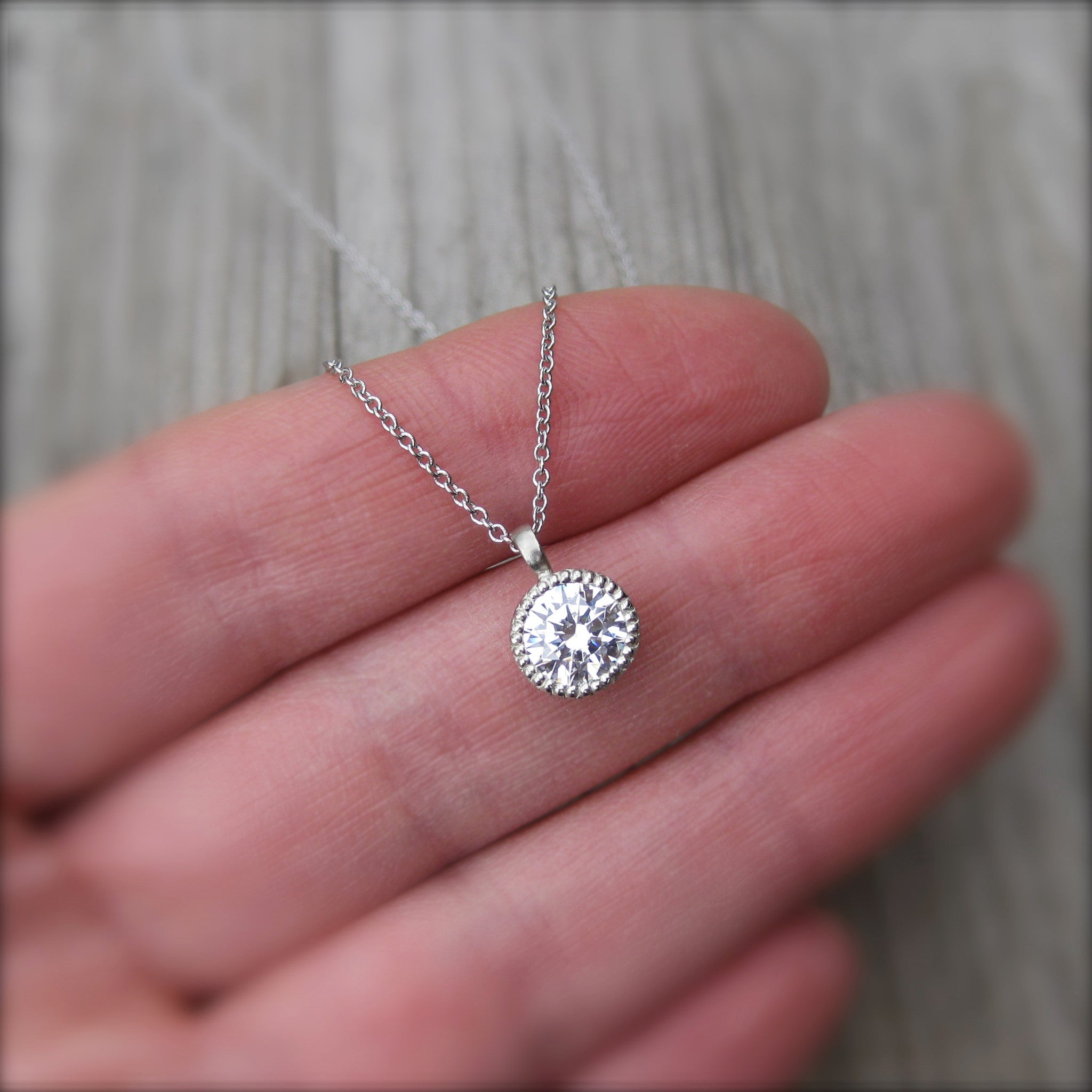 chain p pendant moissanite cushion with