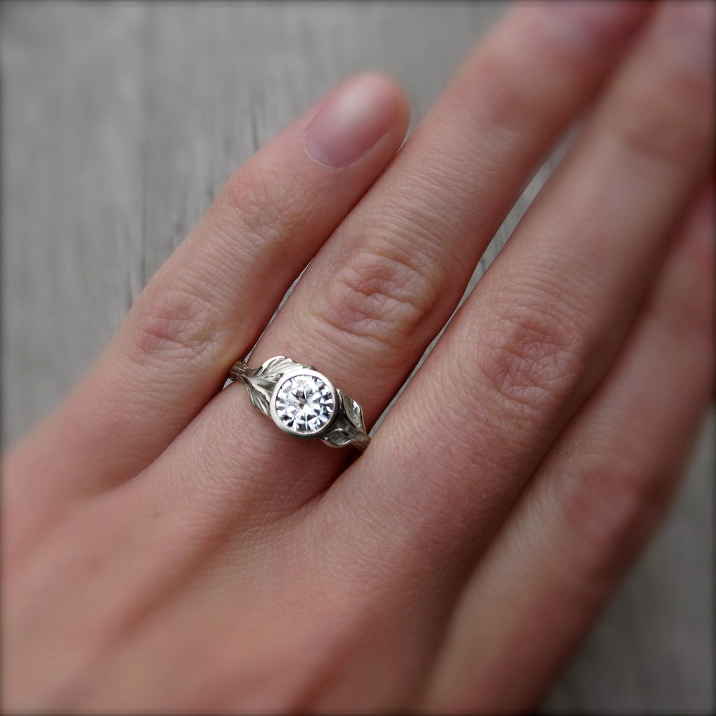 Reserved: Twig & Leaf Engagement Ring (Setting Only)