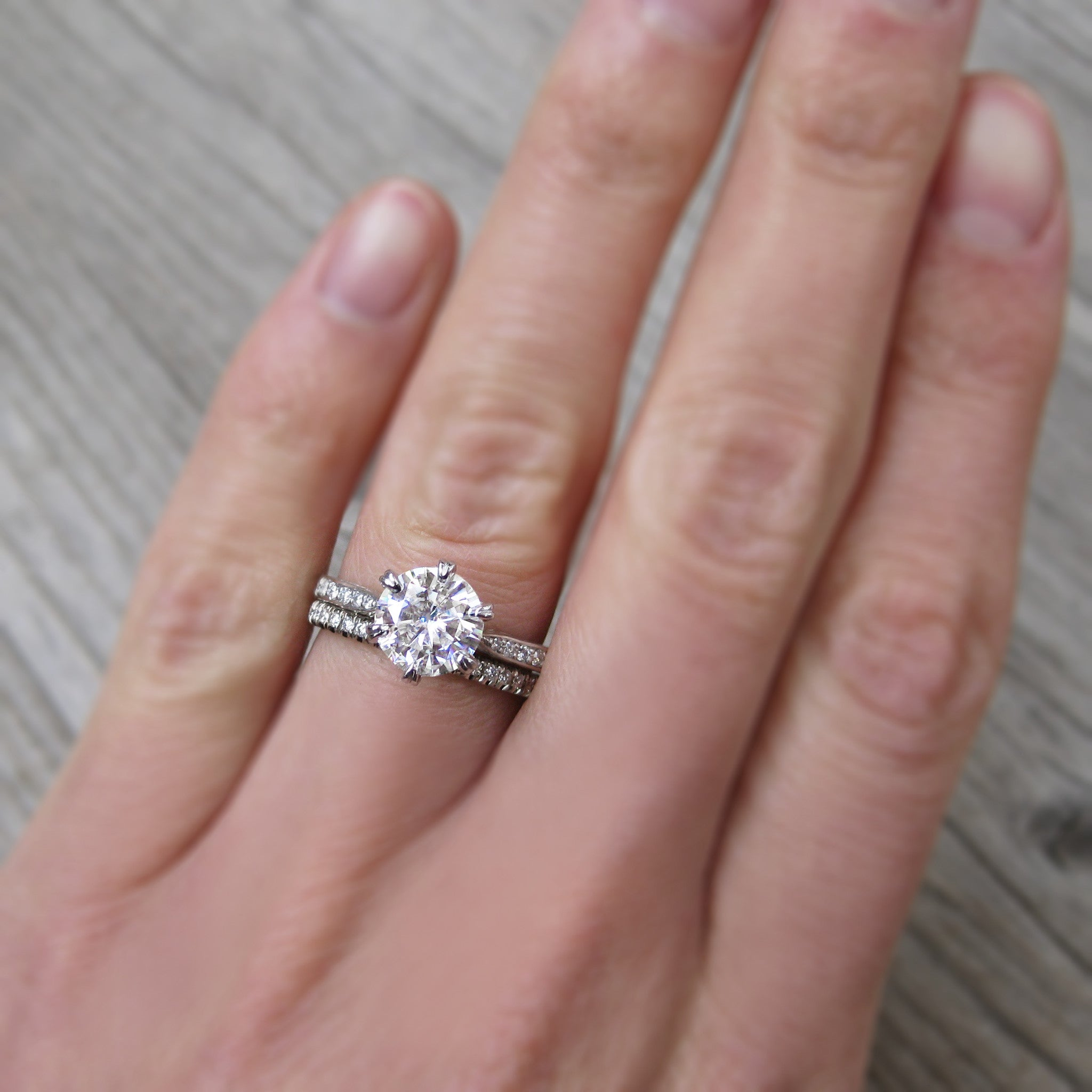 Diamond Eternity Twig Engagement Ring, Canadian Diamonds - Kristin ...