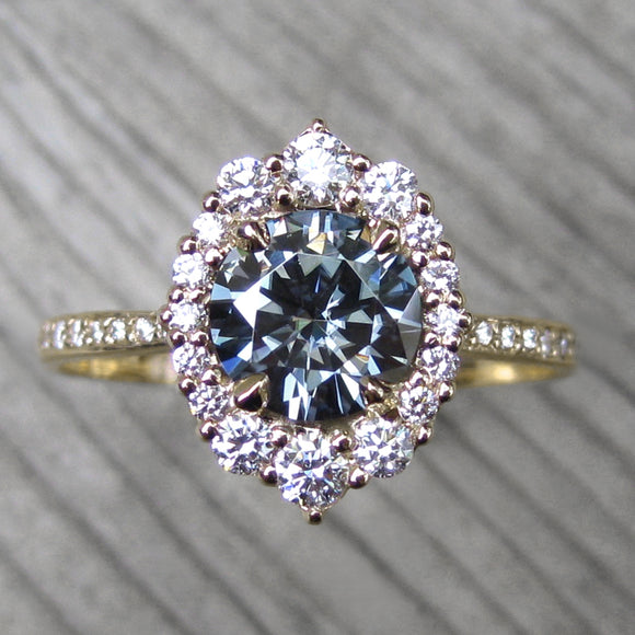 Grey Moissanite Rings Jewelry Kristin Coffin Jewelry
