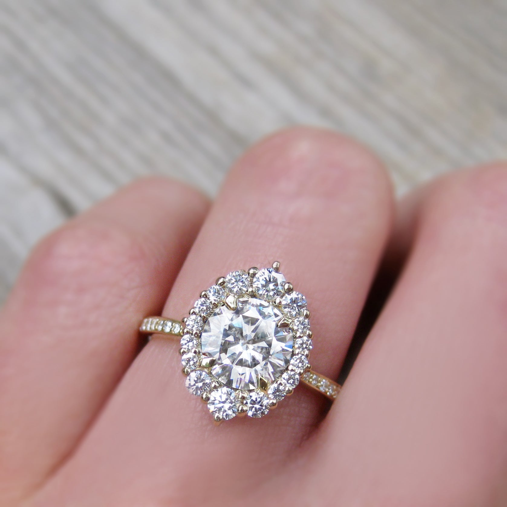 Forever One Hearts and Arrows or Supernova Moissanite Engagement ...