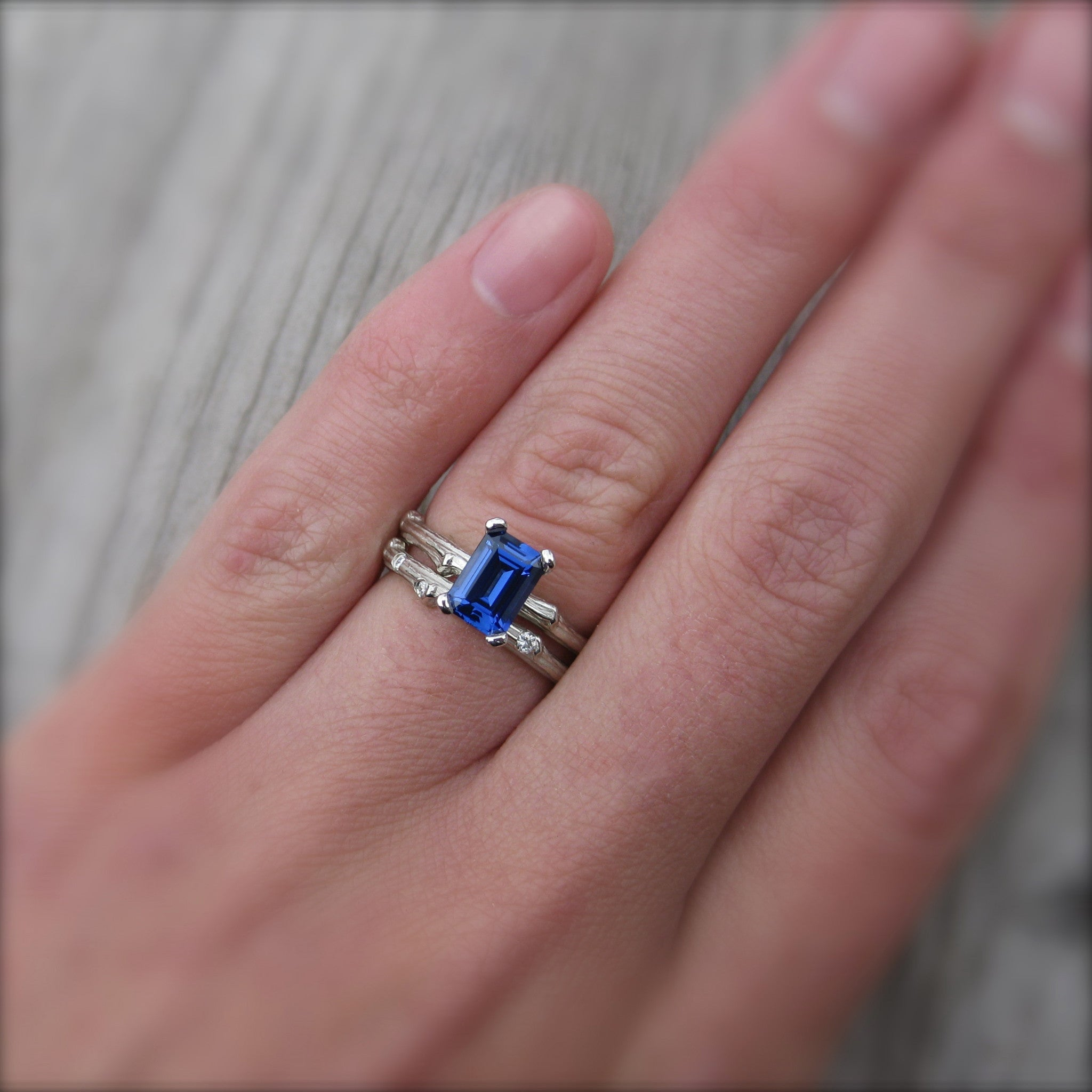 diamond classic sapphire signature gemstone ring and bands products