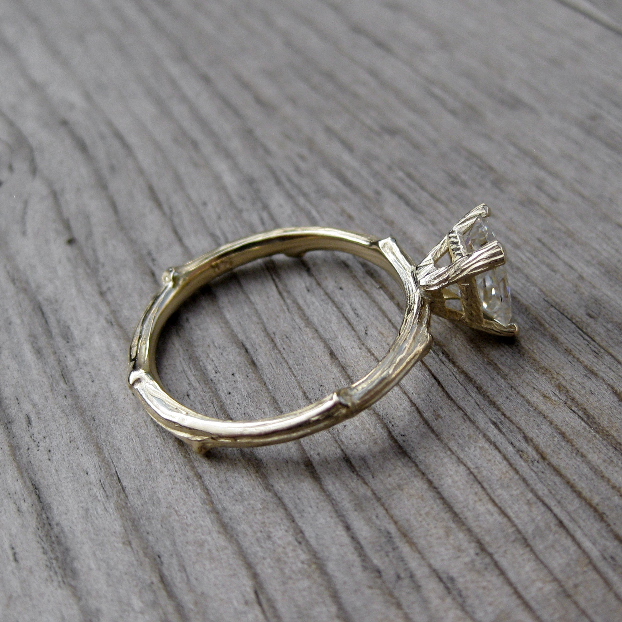 raw uncut gold using in black twig pin diamonds rough engagement white k rings ring