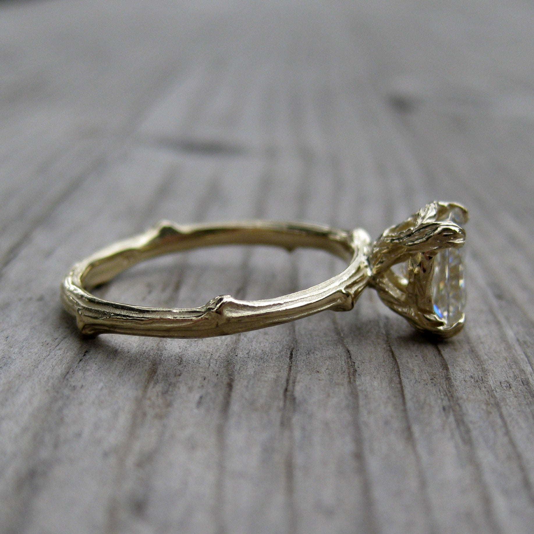 awesome your of engagement fresh custom ring gemstone rings twig choose leaf with create own gold moissanite design