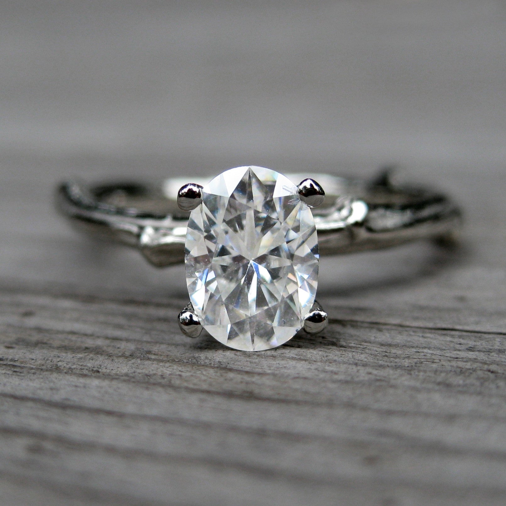 diamond hand created white edited rings gold set engagement with twig products ring