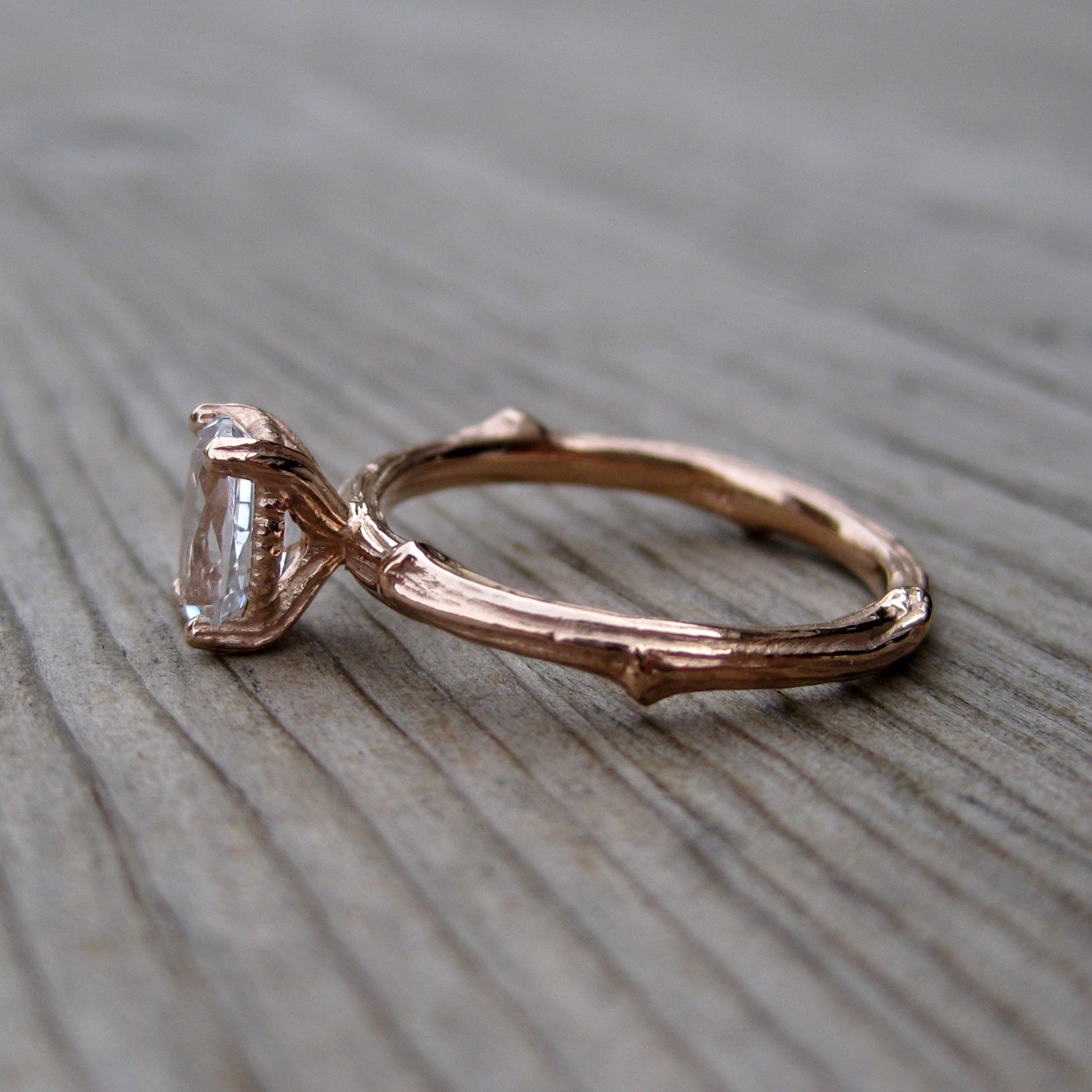 whimsical flow engagement by wedding elvin etsy band rings organic goddess on vine rose opalwing branch ring twig gold pin