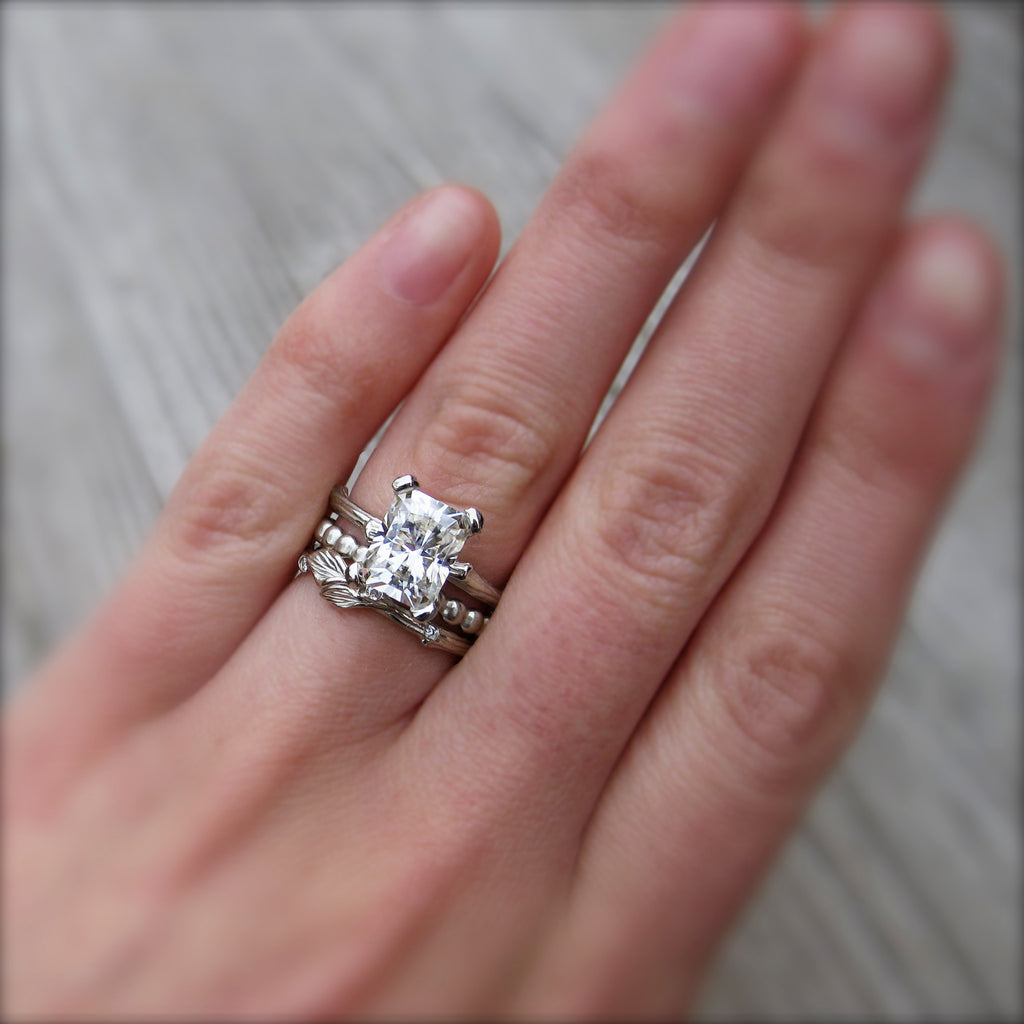 Radaint Moissanite Twig Engagement Ring, Kristin Coffin