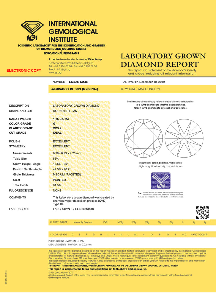 <center><strong>・LEONA・</strong><br></center>Lab-Grown Diamond (VVS2/G), Plain or Diamond Band, (1.25ct Center)