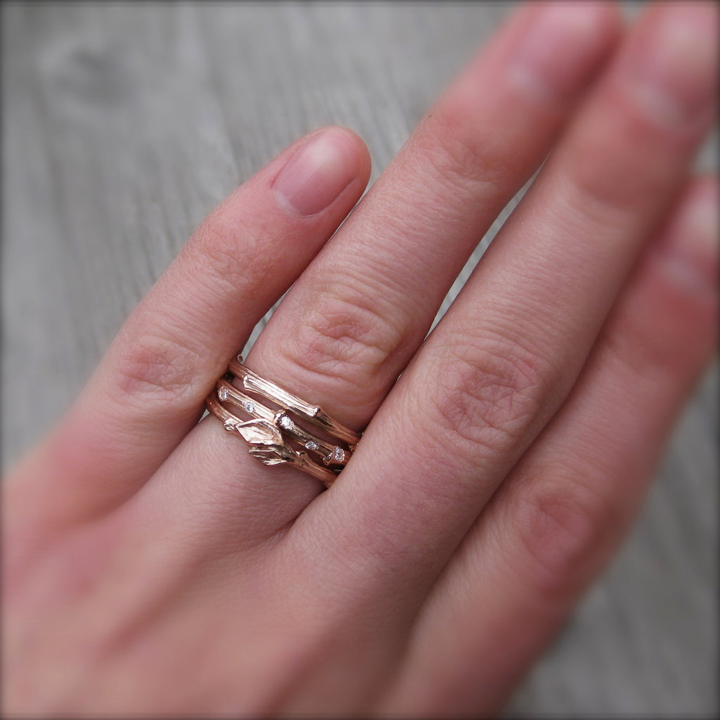 <center><strong>・ROSE GOLD TWIG BAND・</strong><br></center>