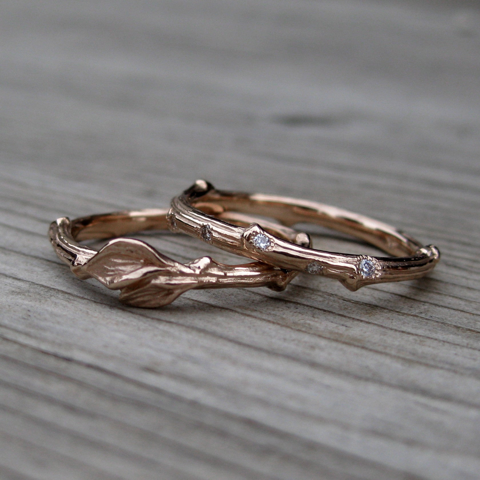 Diamond Branch & Twig with Leaves Band Set
