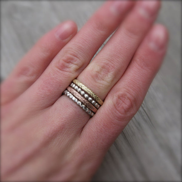 Seedling Wedding Band | Recycled Gold | Kristin Coffin Jewelry