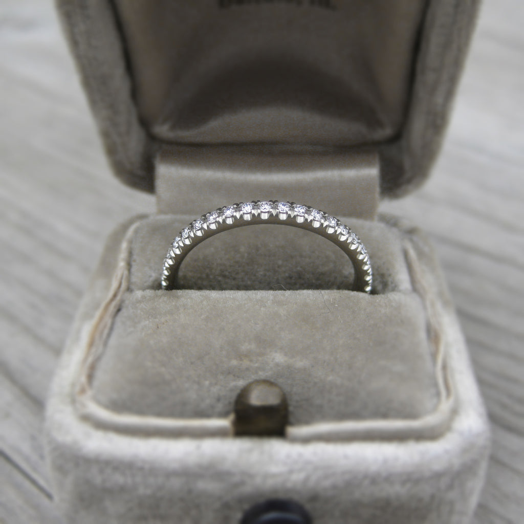 Pavé Diamond Eternity Wedding Band