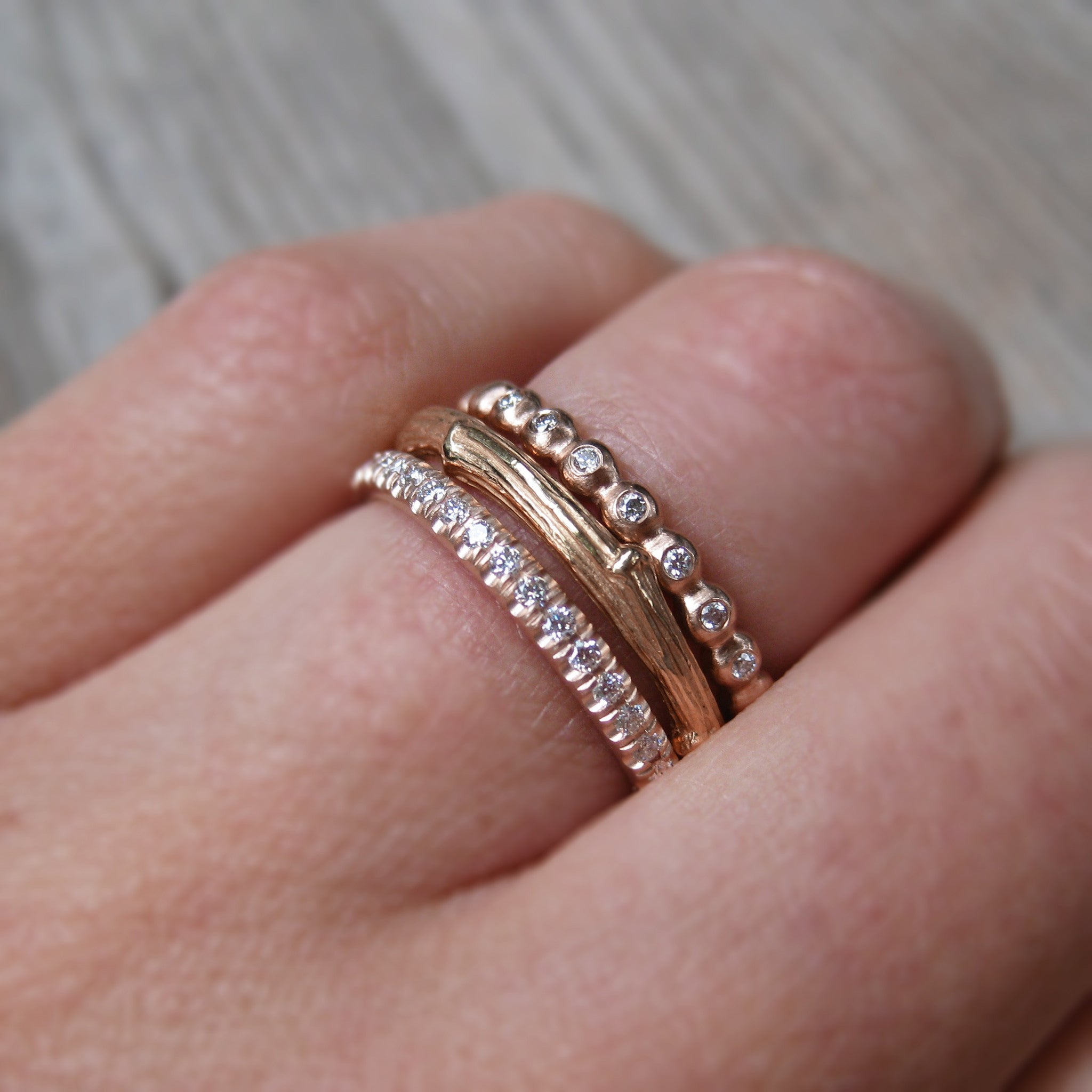by maar gold on bands products band wedding the diamond jewellery black rings eliise rose finger minimalist