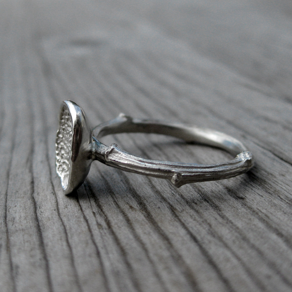 Petal Stackable Ring, Twig Band | Kristin Coffin Jewelry
