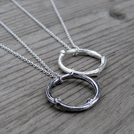 Twig Circle Necklace, Sterling Silver | Kristin Coffin Jewelry