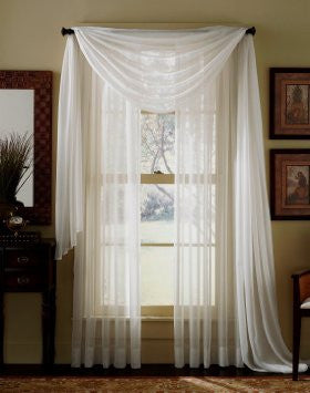 "Solid 84"" Length Sheer Panel - Beige"