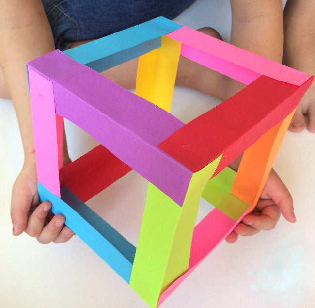 Paper Cube Sculptures Handmade arts and Crafts