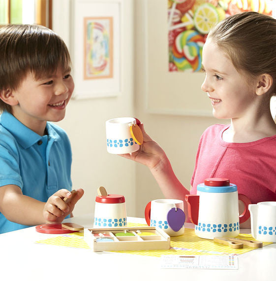 Wooden Steep & Serve Tea Set By Melissa & Doug - Bloxx Toys - Toronto Online Toys Store - 3