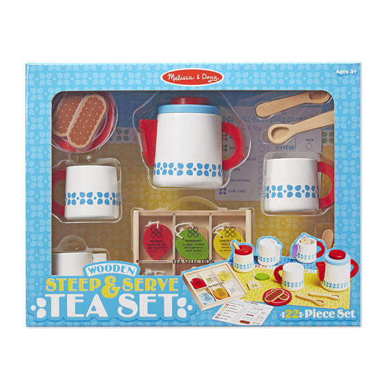 Wooden Steep & Serve Tea Set By Melissa & Doug - Bloxx Toys - Toronto Online Toys Store - 1