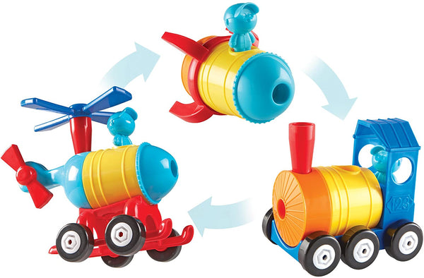 1-2-3 Build It! Rocket-Train-Helicopter By Learning Resources -Bloxx Toys-Toronto toys, toy,Autism Toys, Ontario toys, Quebec toys, Children Toys,Kids Toys,Educational toys Online Toys Store Canada