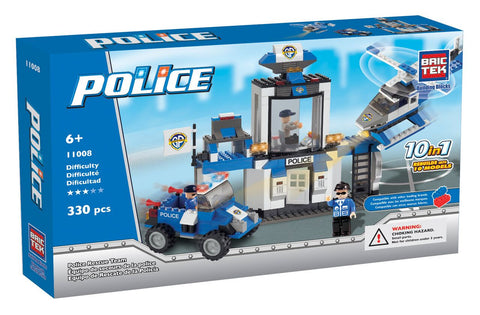 Police Rescue Team 10 in 1 By BricTek - Bloxx Toys - Toronto Online Toys Store - 1