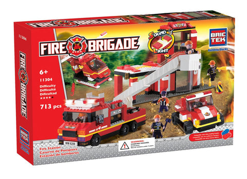 BRICTEK-Fire Station with sound & light - Bloxx Toys - Toronto Online Toys Store - 1