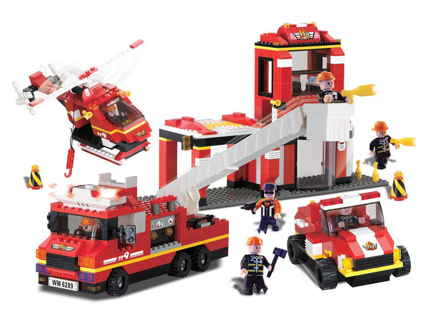 BRICTEK-Fire Station with sound & light - Bloxx Toys - Toronto Online Toys Store - 2