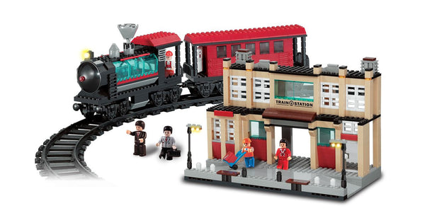BRICTEK- TRAIN STATION WITH TRACK 8 IN 1 - Bloxx Toys - Toronto Online Toys Store - 2