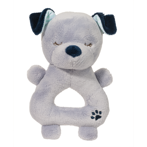 Little Blue Dog Baby Rattle By Douglas