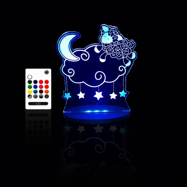 Lamb Night Light - Multi Coloured LED Night Light By Tulio