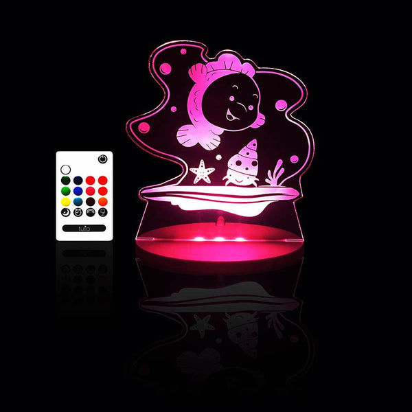 Baby Fish Night Light - Multi Coloured LED Night Light By Tulio