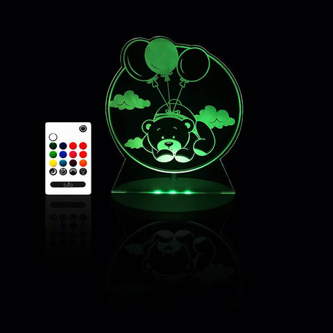 Teddy Bear Night Light - Multi Coloured LED Night Light By Tulio