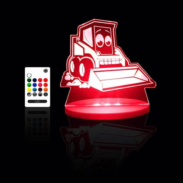 Digger Night Light - Multi Coloured LED Night Light By Tulio