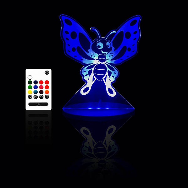 Butterfly Night Light - Multi Coloured LED Night Light By Tulio