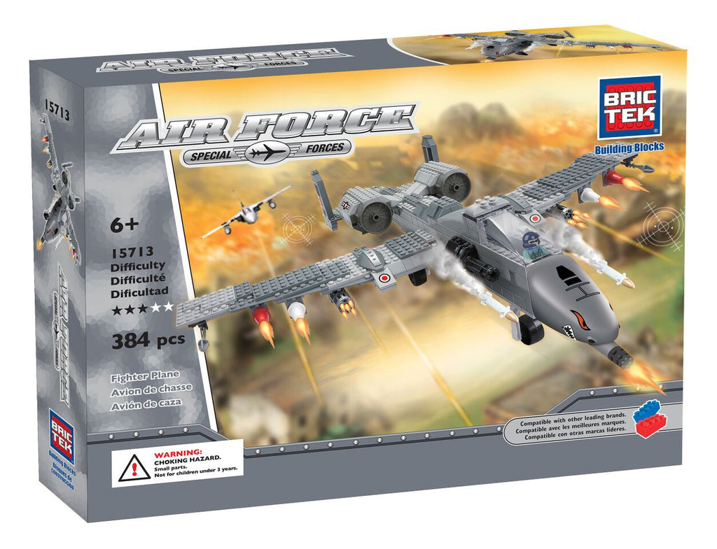 BRICTEK AIR FORCE FIGHTER PLANE - Bloxx Toys - Toronto Online Toys Store - 1