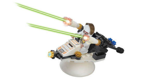 BRICTEK-SPACE FIGHTER WITH ROTATING STAND - Bloxx Toys - Toronto Online Toys Store - 2