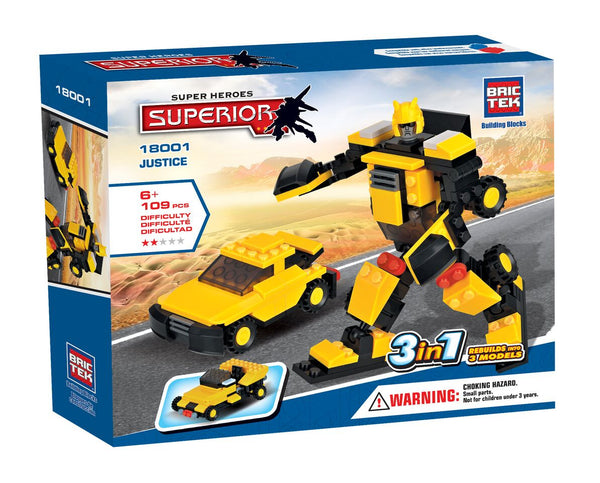 BRICTEK HEROES 3 IN 1 JUSTICE - Bloxx Toys - Toronto Online Toys Store - 1
