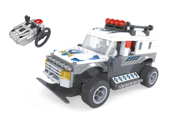 RADIO CONTROLLED POLICE TRUCK By BricTek - Bloxx Toys - Toronto Online Toys Store - 2