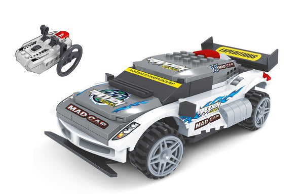 Radio Controlled Building Blocks Racing Car Mad-Car By BricTek - Bloxx Toys - Toronto Online Toys Store - 2