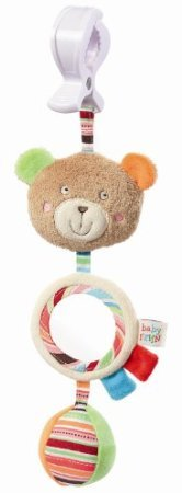 Vertical Mobile Teddy with Clip Multicoloured By Fehn